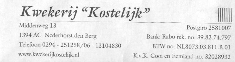 V.O.F. Kwekerij Kostelijk